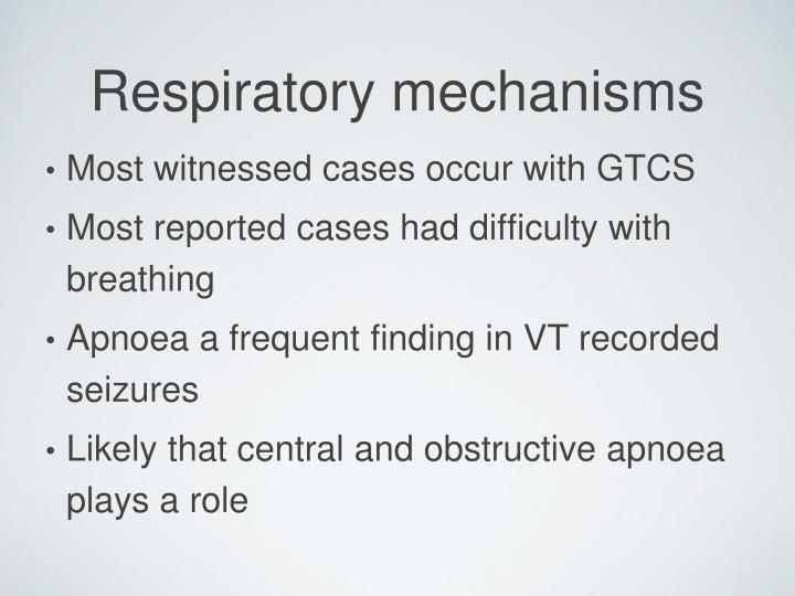 Most witnessed cases occur with GTCS