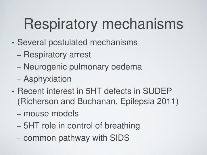 Several postulated mechanisms