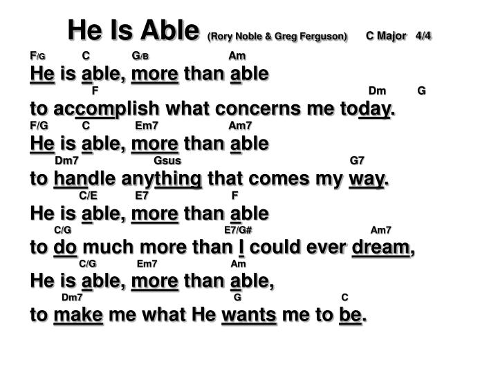 He Is Able