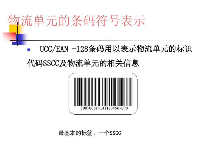物流单元的条码符号表示