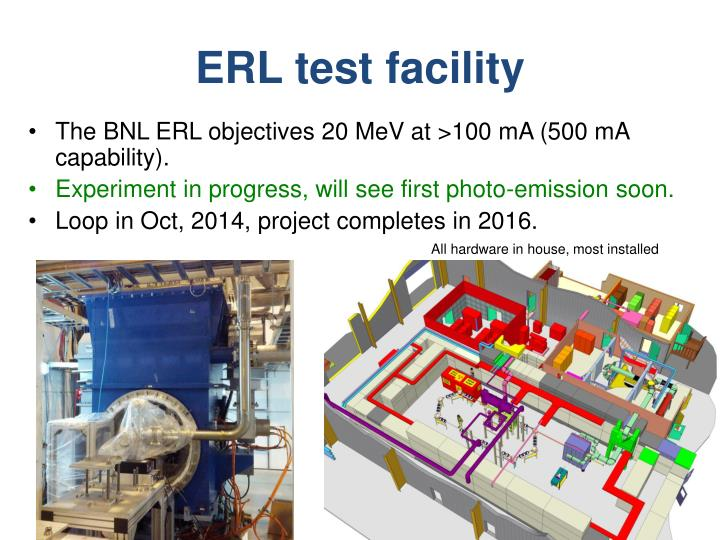 ERL test facility