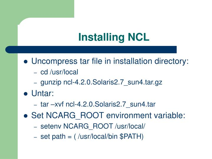 Installing NCL