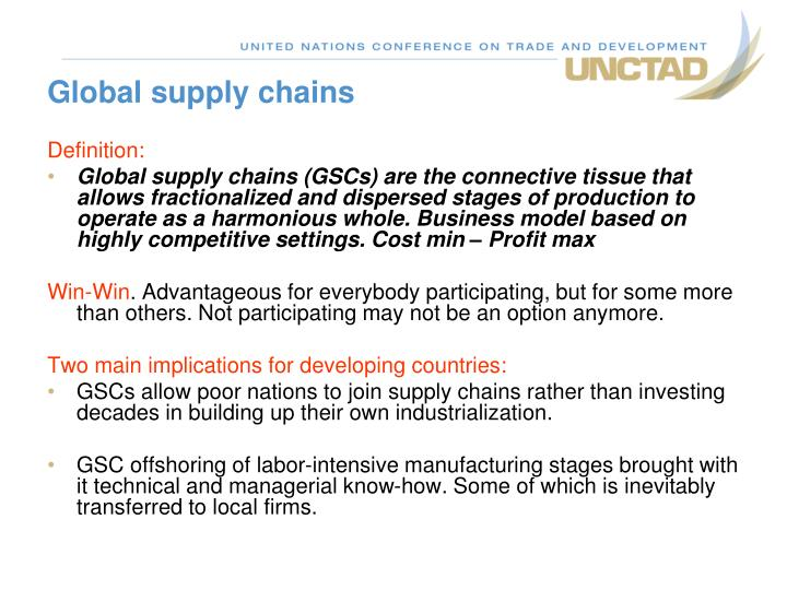 global supply chains n.