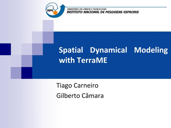 spatial dynamical modeling with terrame n.