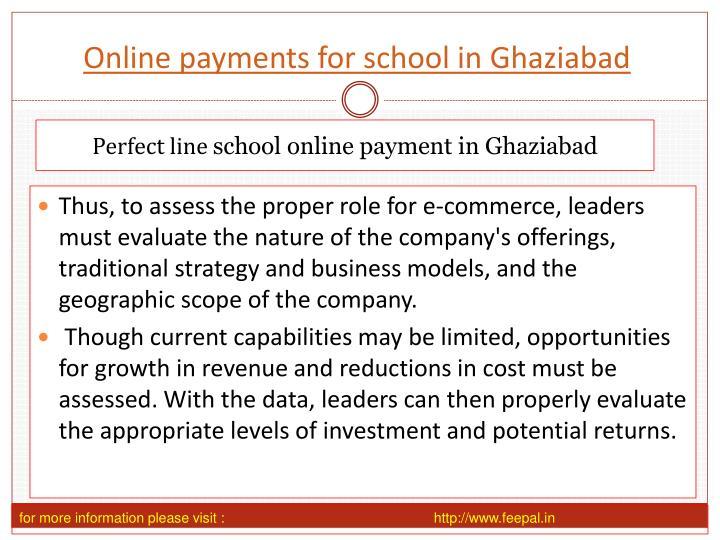 Online payments for school in ghaziabad
