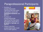 paraprofessional participants