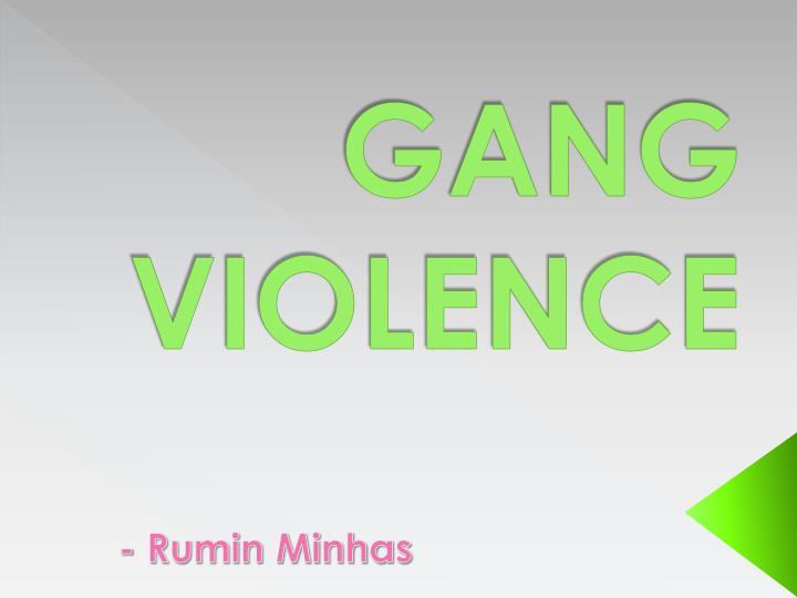 gang violence n.
