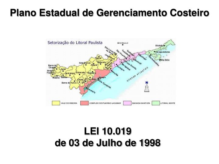 Plano Estadual de Gerenciamento Costeiro
