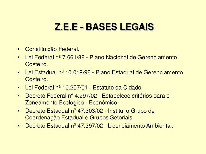 Z.E.E - BASES LEGAIS