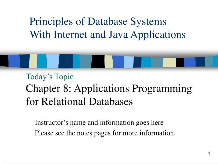 principles of database systems with internet and java applications n.