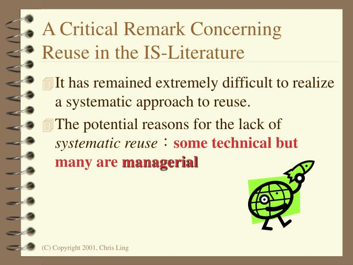A Critical Remark Concerning Reuse in the IS-Literature