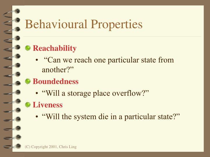 Behavioural Properties