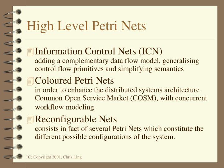 High Level Petri Nets