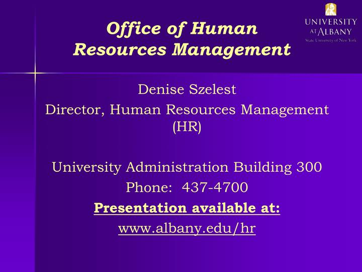 office of human resources management n.