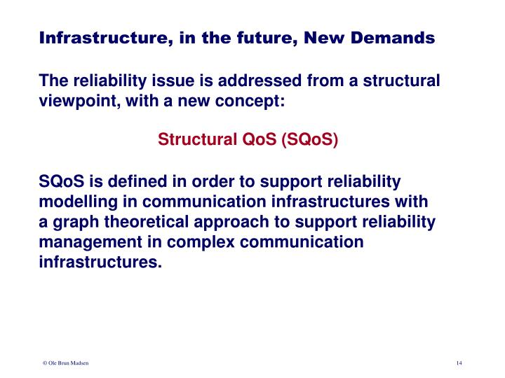 Infrastructure, in the future, New Demands
