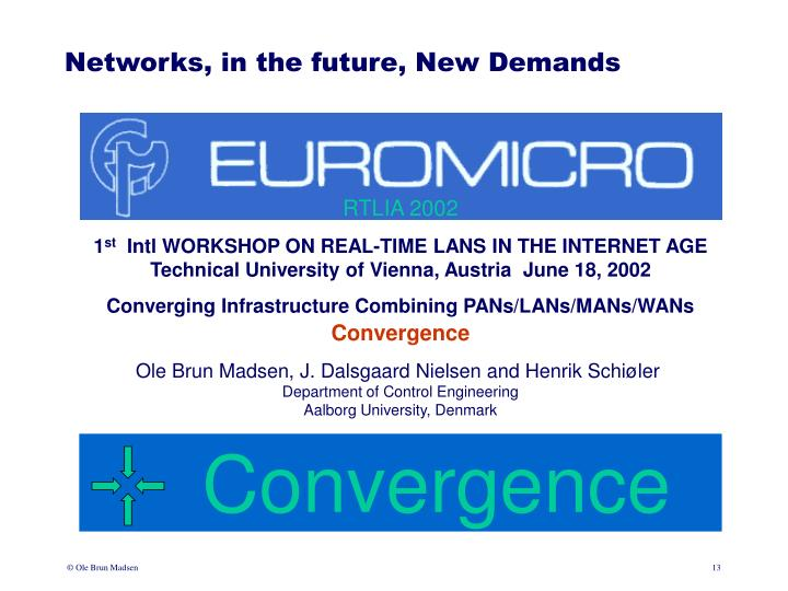 Networks, in the future, New Demands