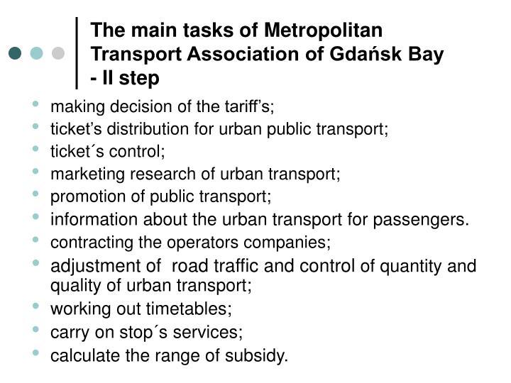 The main tasks of