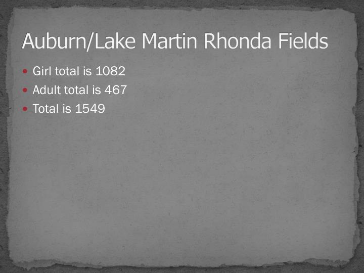 Auburn/Lake Martin Rhonda Fields
