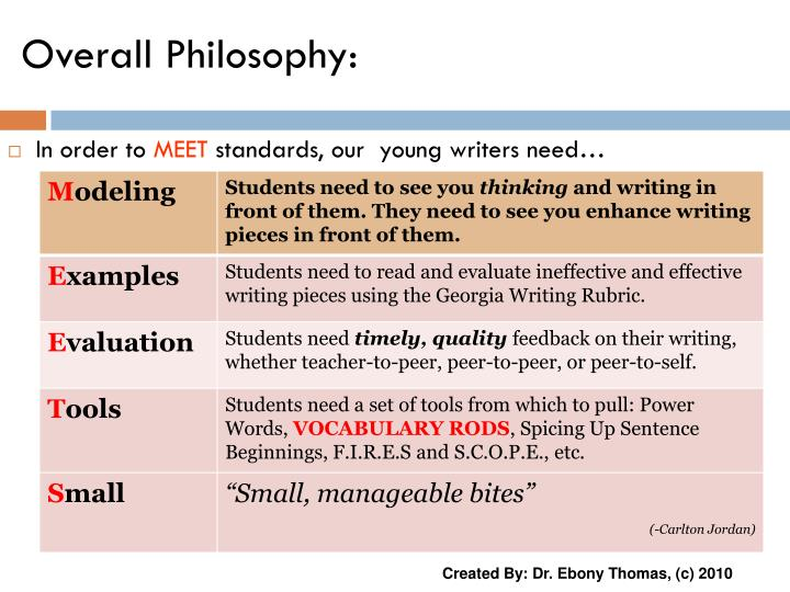 PPT - Overall Philosophy: PowerPoint Presentation - ID:3581078