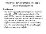 historical developments in supply chain management1