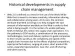 historical developments in supply chain management11