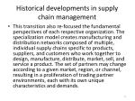 historical developments in supply chain management7
