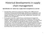 historical developments in supply chain management8