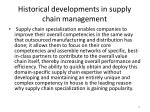 historical developments in supply chain management9