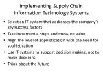 implementing supply chain information technology systems