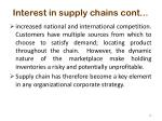interest in supply chains cont1