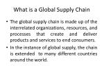 what is a global supply chain