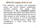 what the supply chain is not