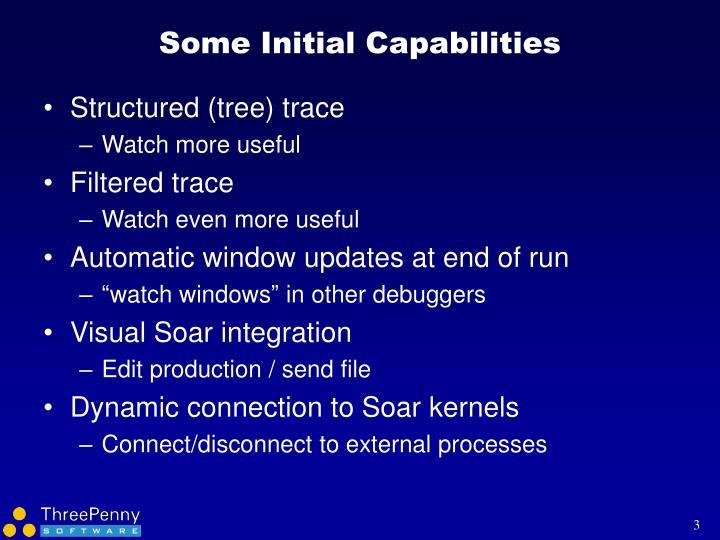 Some initial capabilities