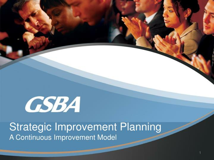 strategic improvement planning a continuous improvement model n.