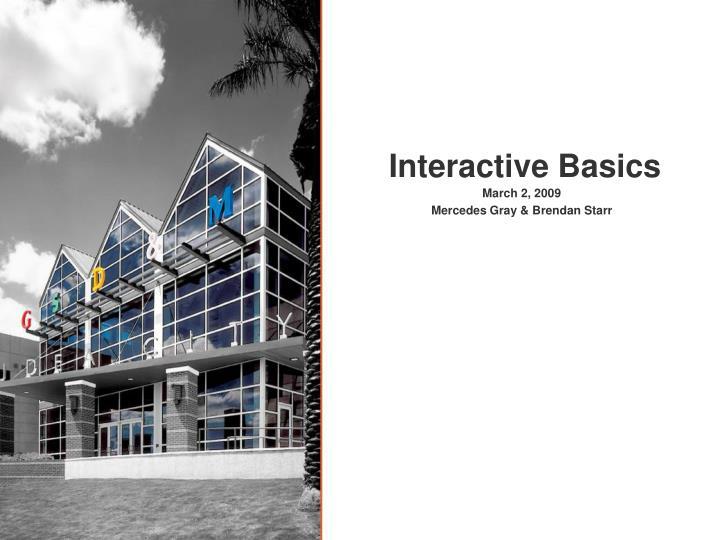 interactive basics n.