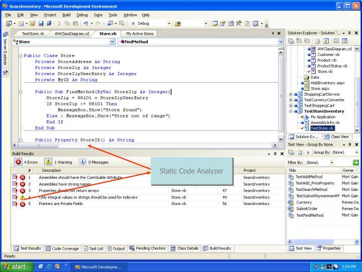 Static Code Analysis
