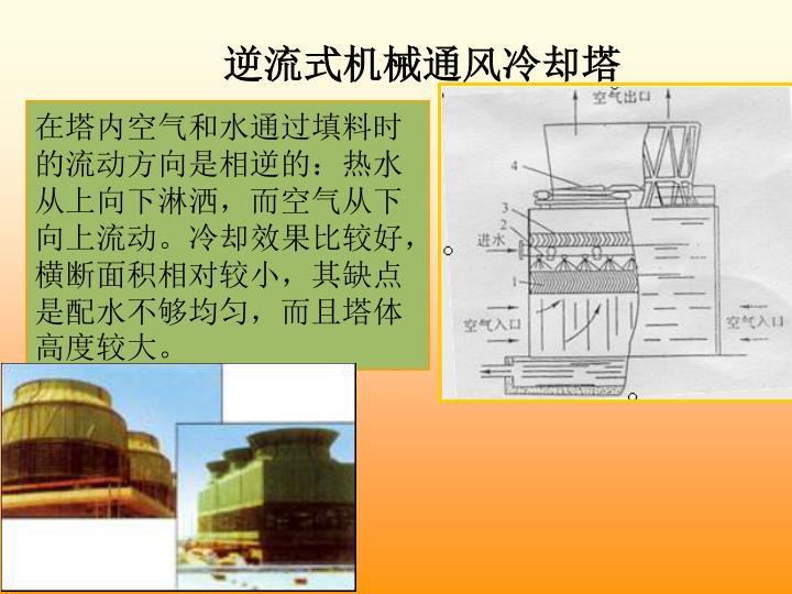 逆流式机械通风冷却塔