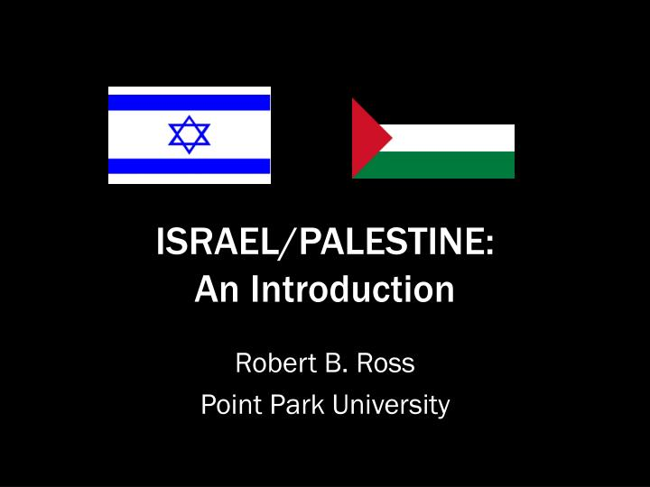 israel palestine an introduction n.