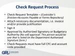 check request process