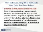 fy 14 state accounting office sao state travel policy guidelines updates1