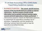 fy 14 state accounting office sao state travel policy guidelines updates3