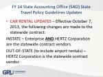 fy 14 state accounting office sao state travel policy guidelines updates4