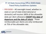 fy 14 state accounting office sao state travel policy guidelines updates7