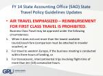 fy 14 state accounting office sao state travel policy guidelines updates8