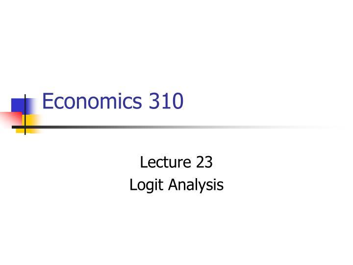 economics 310 n.