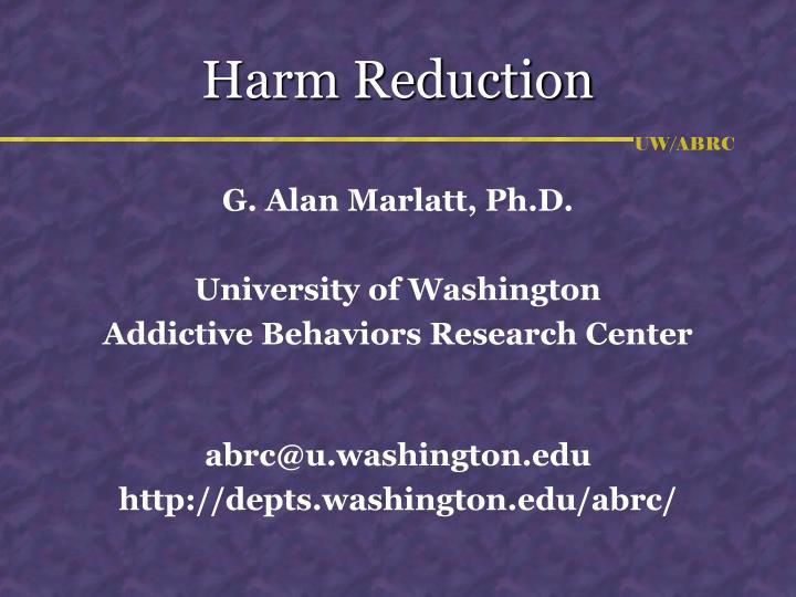 harm reduction n.