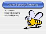 other security problems