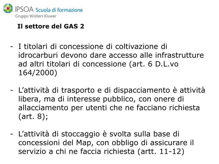 Il settore del GAS 2