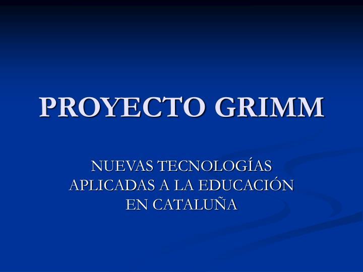 proyecto grimm n.