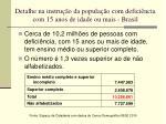 detalhe na instru o da popula o com defici ncia com 15 anos de idade ou mais brasil